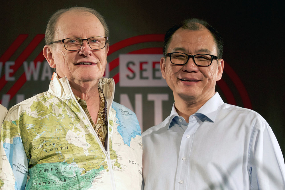 OM Founder, George Verwer with current International Director Lawrence Tong