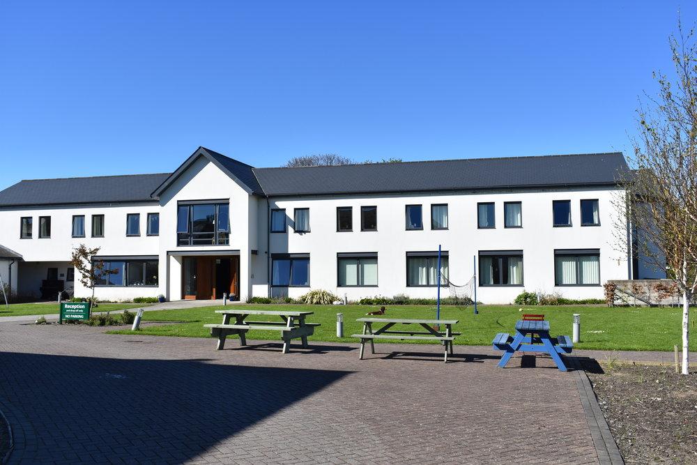 The accommodation block