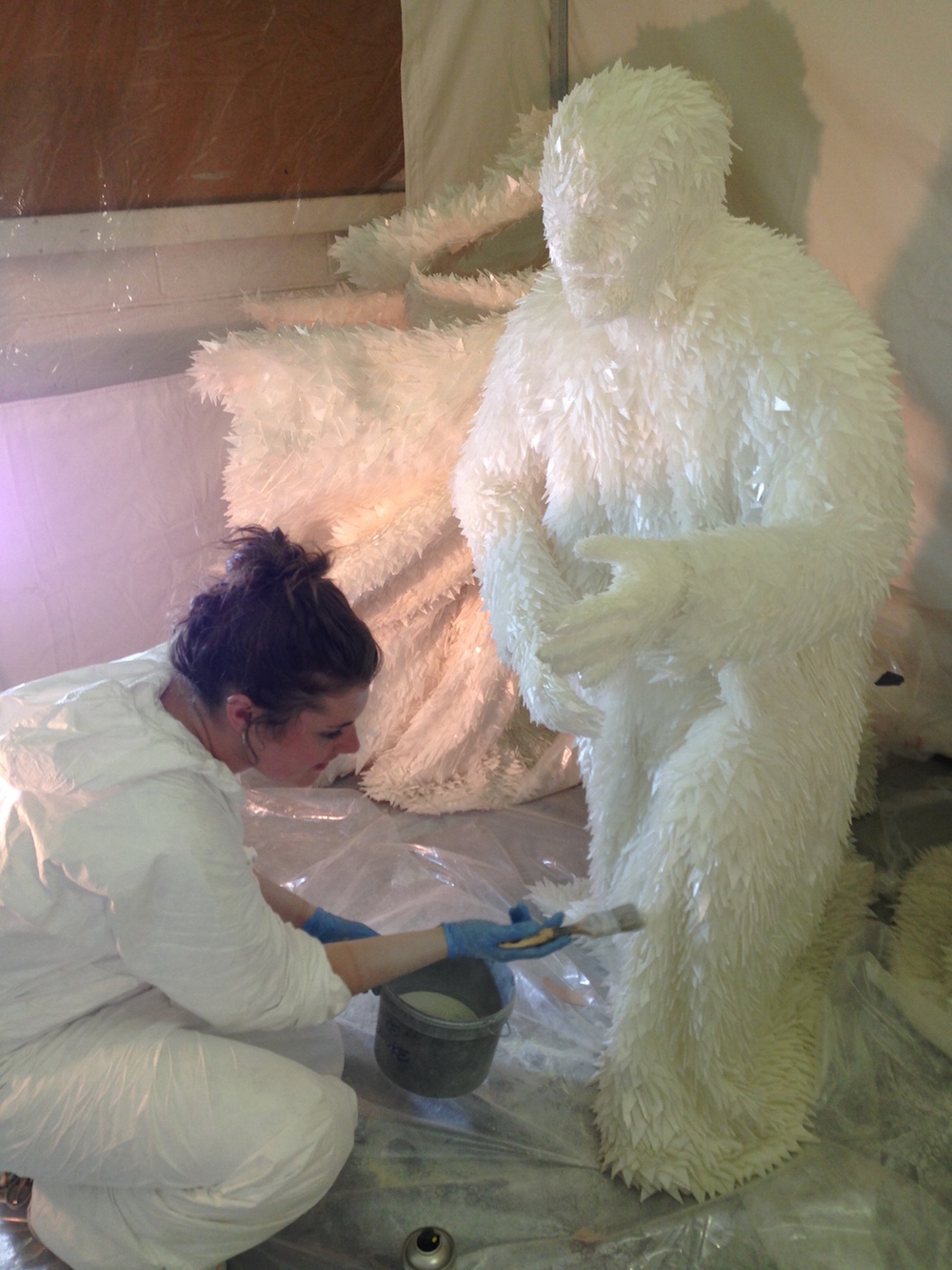 "Ice sculpture made from thousands of shards of flexible silicone and glued together for ""The Huntsman Winters War"""