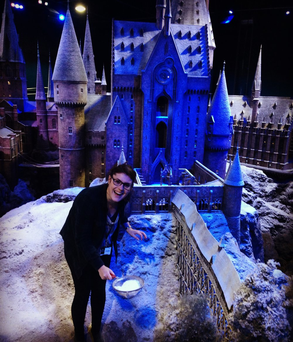 Dressing the snow in Hogwarts at Warner Bros Studio Tour