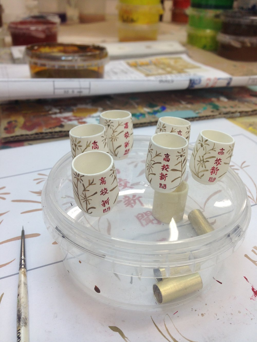 Miniature Props painted for Isle of Dogs