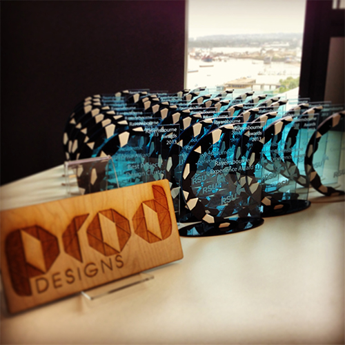 Laser Cut Awards for Ravensbourne