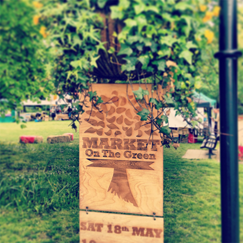Market On The Green Bespoke Signage