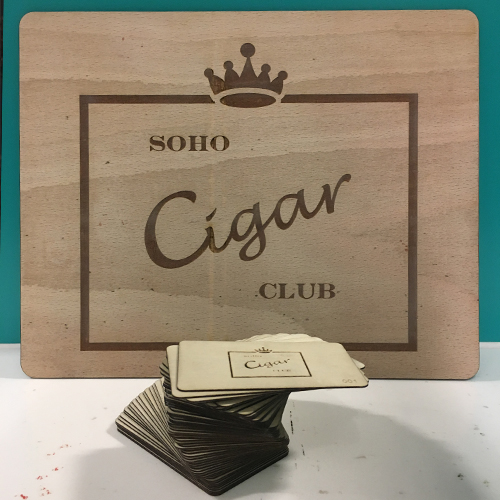 Soho Cigar Club Signage & Membership Cards