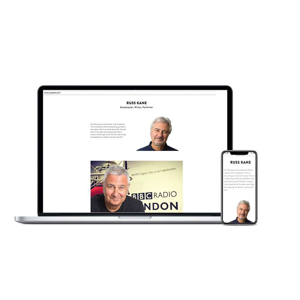 Russ Kane Website Design