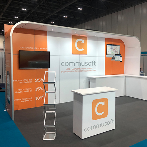Commusoft display stand