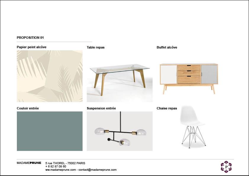 Proposition de papier-peint, couleur, mobilier
