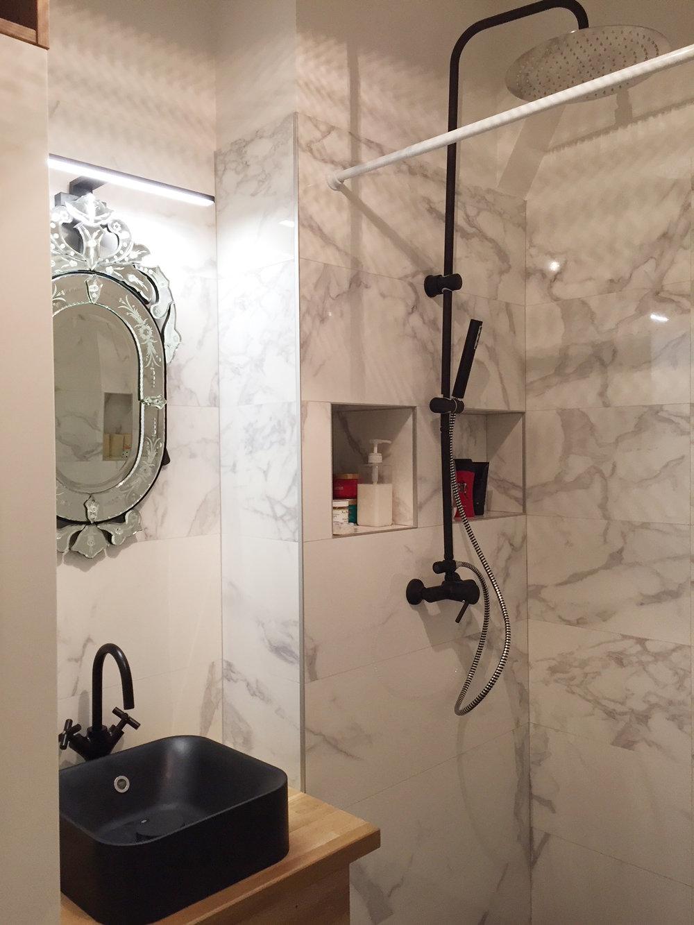 Pose vasque / miroir