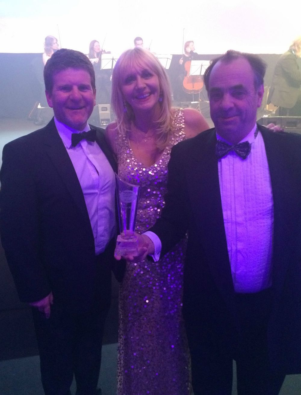 Directors Paul Tierney (L) and Conor Hanratty (R) with Miriam O'Callaghan