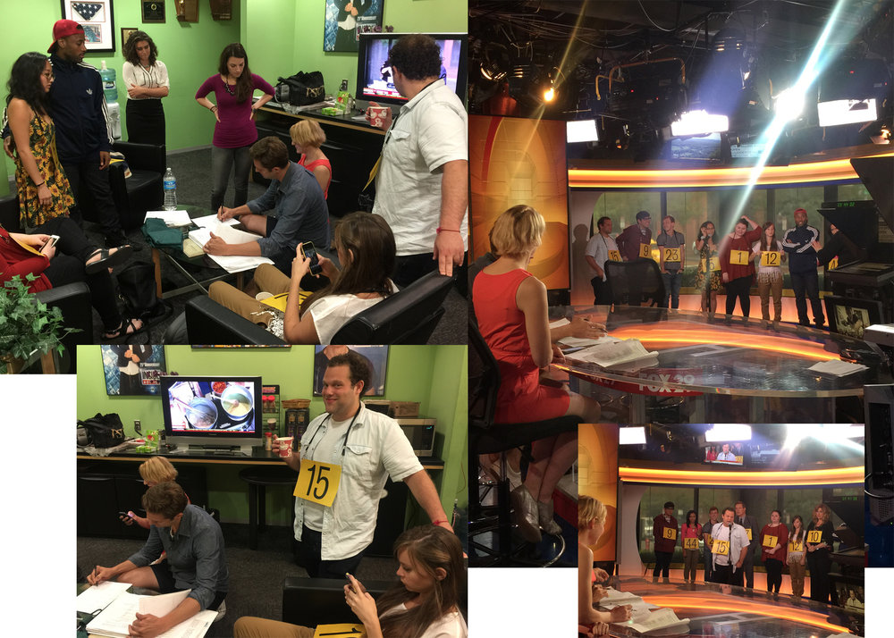 Behind the scenes at Fox Good Day studios in Philadelphia - working with the cast in the Greenroom prior to airing.  All photos and video were used in the segment and co-produced by Mandee Kuenzle with the lead Producer at Fox