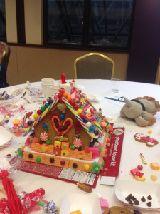 One of the awesome gingerbread houses at GB Lane