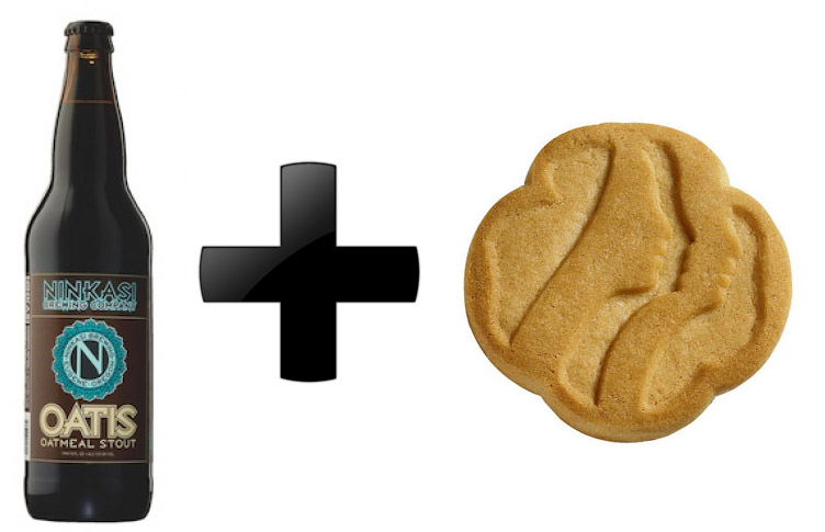 Ninkasi Oatis Oatmeal Stout + Shortbread Cookies (sometimes called Trefoils but that was another debate)