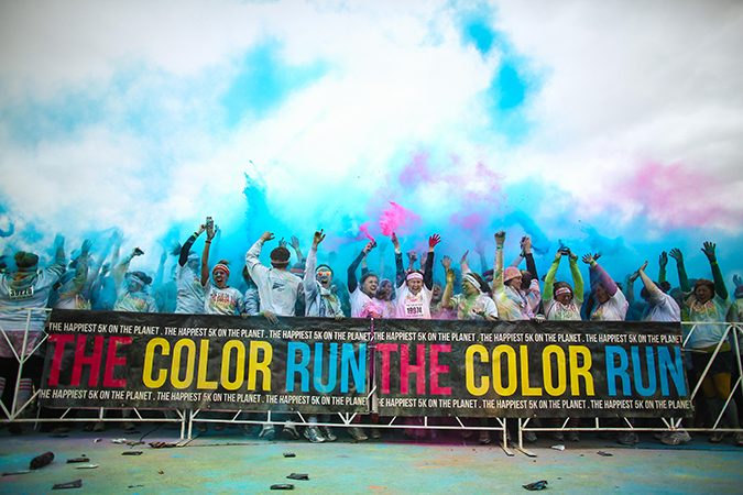 The Color Run takes the color part...seriously. Photo courtesy of Sippy Cup Mom blog.