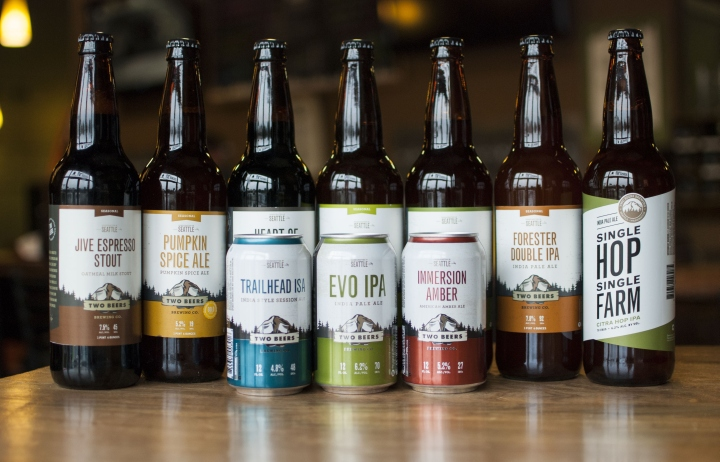What a collection! The Two Beers lineup.Courtesy of Retail Design Blog.