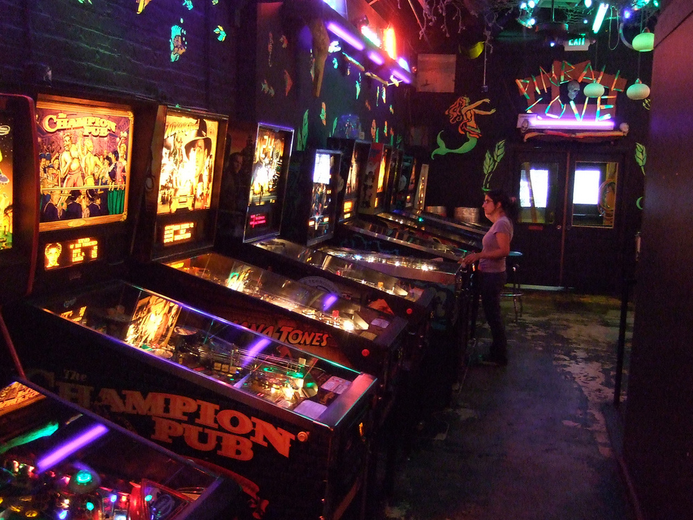 """Pinball Machine at Shorty's."" From Flickr Creative Commons, courtesy of bowenmurphy. Some rights reserved."