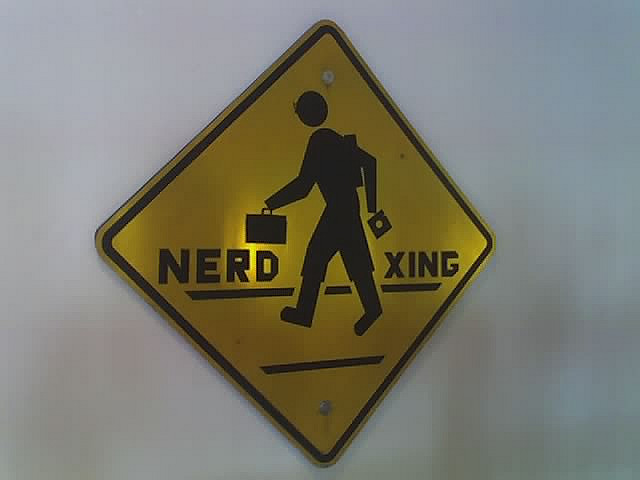 """Nerd Crossing."" From Flickr Creative Commons, courtesy of Sean Graham. Some rights reserved."