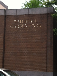 The outside of Waterfall Garden Park