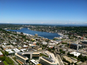 A beautiful view of Lake Union