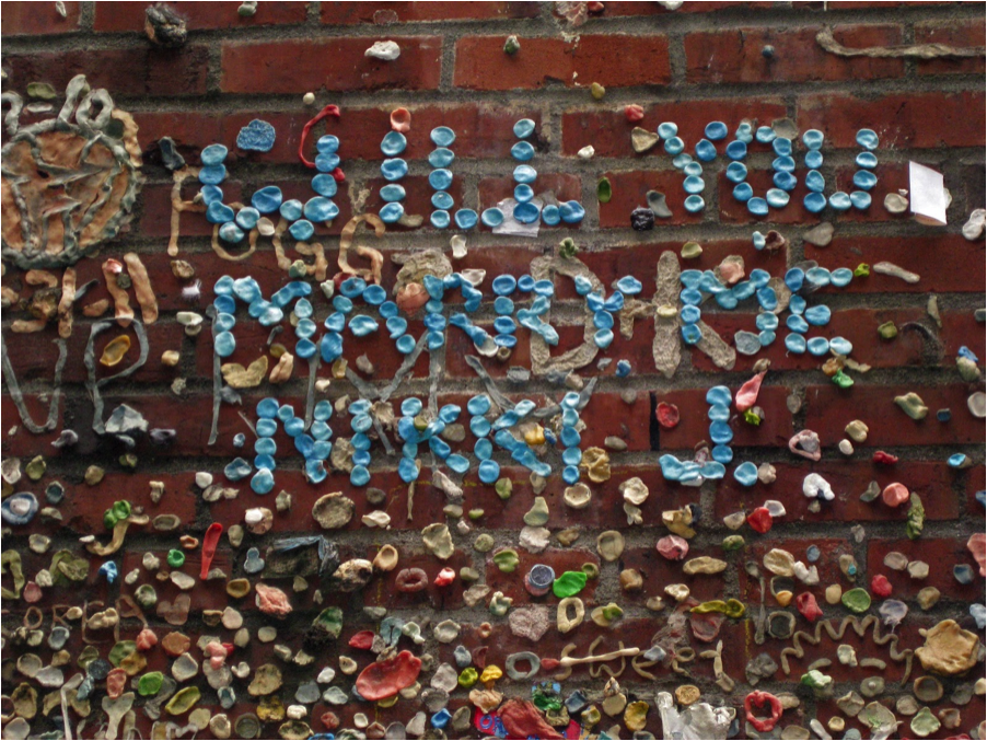 Courtesy of http://helenholter.com/2013/02/02/gum-wall-stuck-on-seattle/