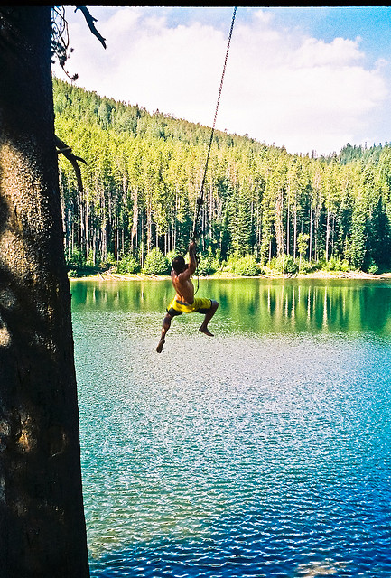 """Rope Swing,"" by elbyincali. Licensed under Attribution-NonCommercial-NoDerivs 2.0 Generic (CC BY-NC-ND 2.0)."