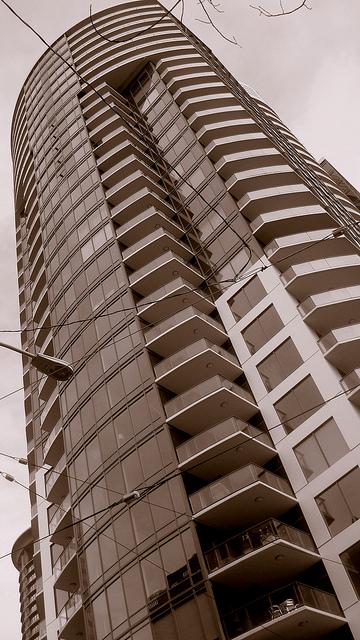"""Escala Condominium Tower, Downtown Seattle WA,"" by Joe Wolf. Licensed under Attribution-NoDerivs 2.0 Generic (CC BY-ND 2.0)."