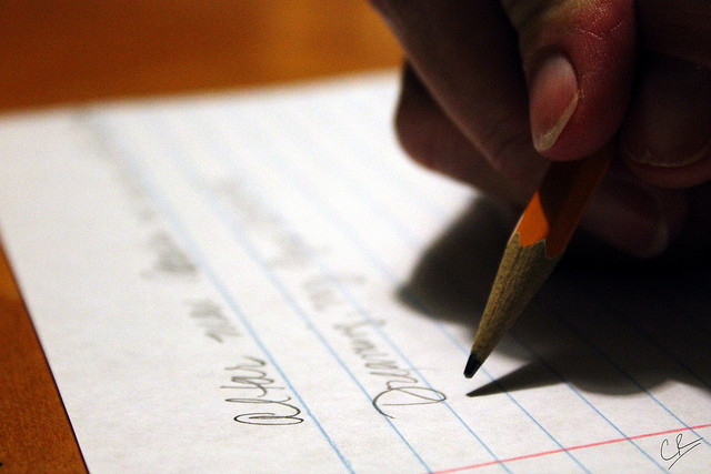 """Writing? Yeah,"" by Caleb Roenigk. Licensed under Attribution 2.0 Generic (CC BY 2.0)."
