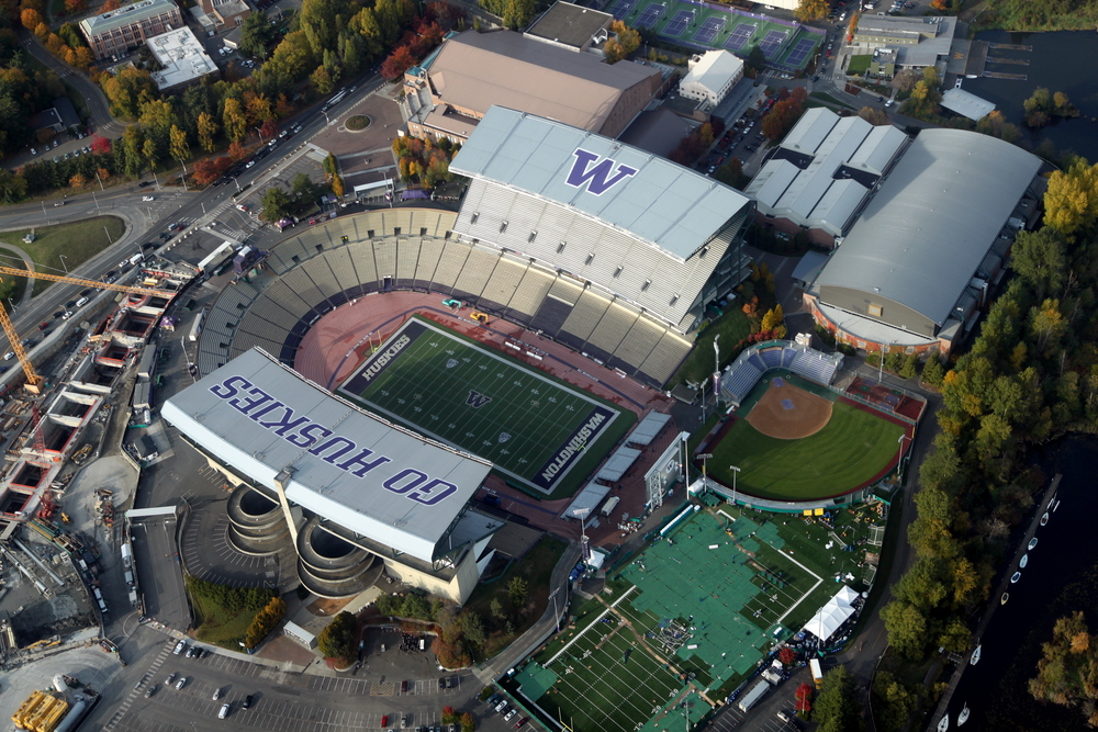 """Aerial Husky Stadium November 2011 - 1"" by Jelson25 - Own work. Licensed under CC BY-SA 3.0 via Commons."