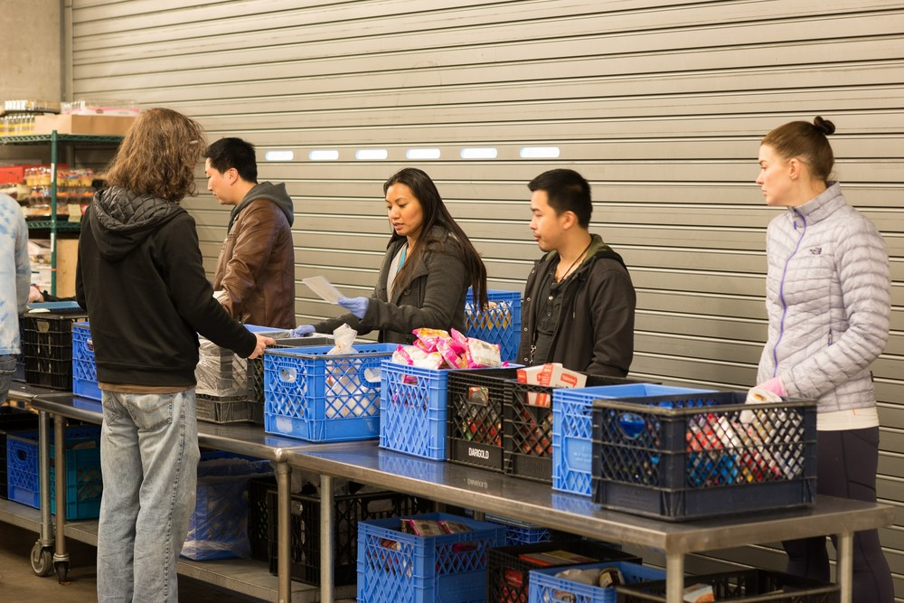 Our Volunteers met with community members and helped them select groceries