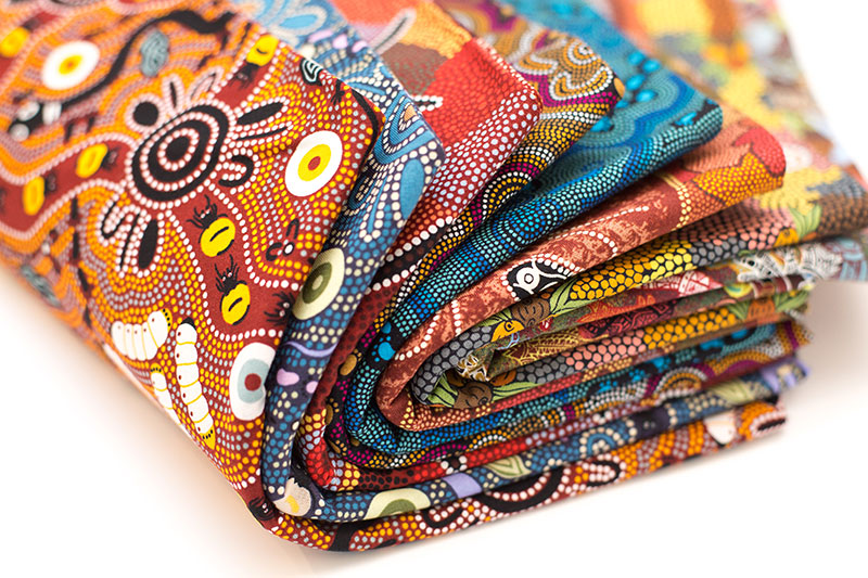 home decor fabric australia aboriginal fabrics clothing homewares and bulurru 10975