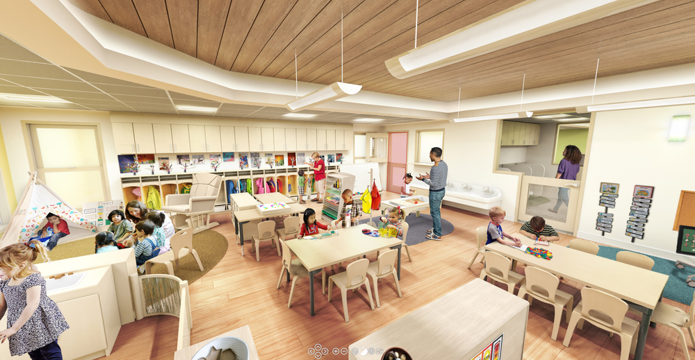 Click image to experience three classrooms in full 360 degrees, complete with state changes.