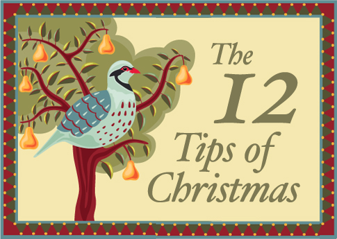 12 tips of Christmas cards