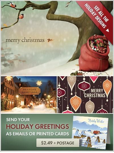 Holiday christmas card designs
