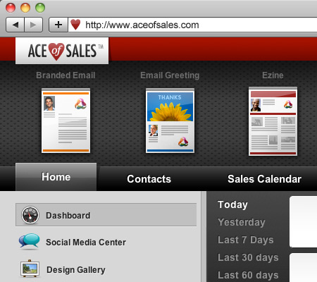Ace of Sales CRM dashboard