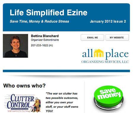 Bettina Blanchard ezine email newsletter