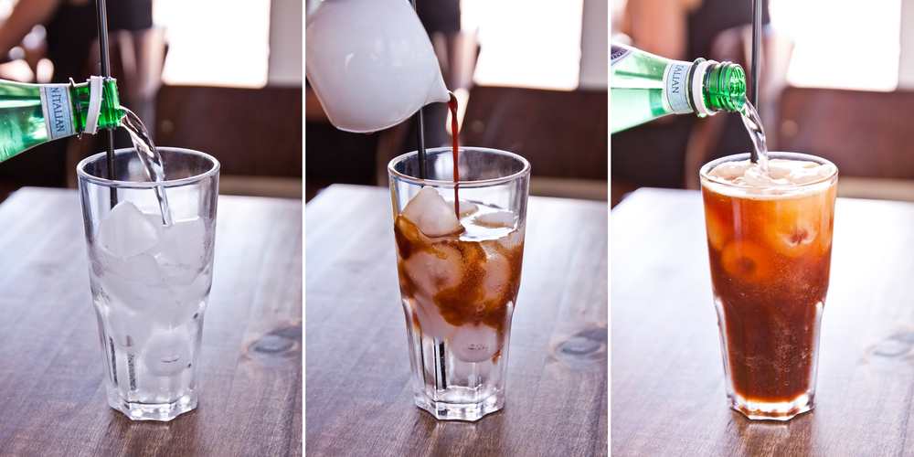 Try our Coffee Spritzer with Sparkling Water & fresh espresso - $5.00