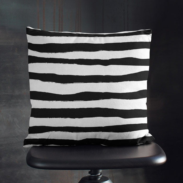 Black and White Zebra throw pillow