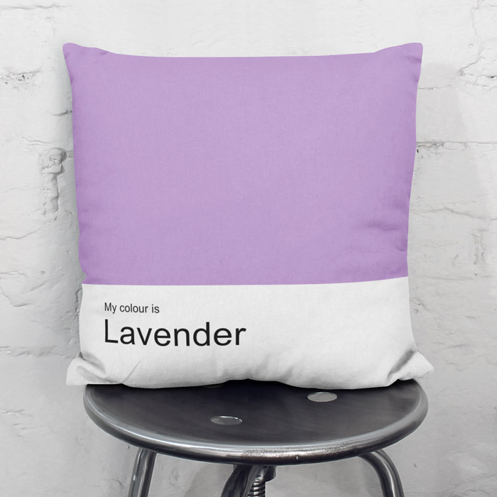 """My colour is Lavender"" garden-fresh throw pillow"