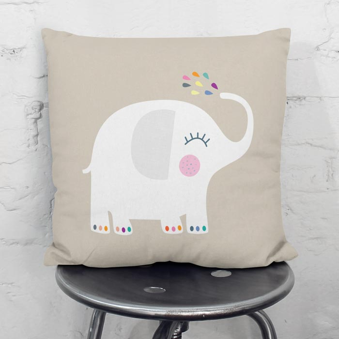 Funny elephant throw pilow