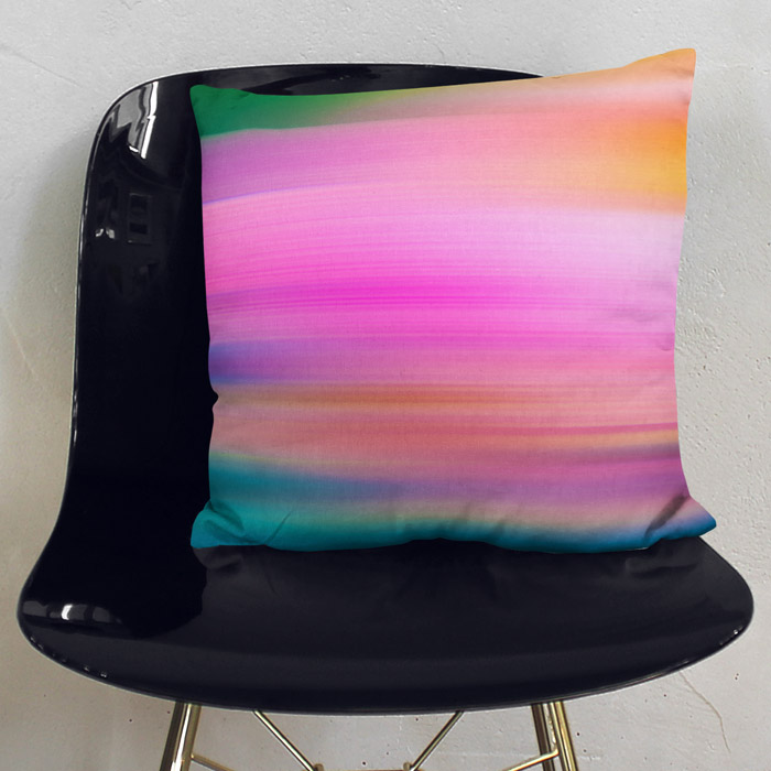 """Back Garden"" Abstract and colourful throw pillow"