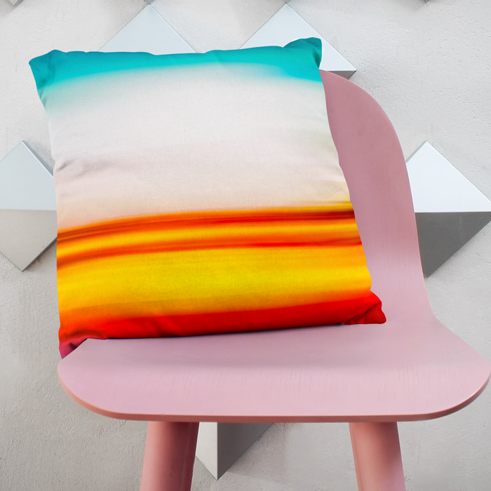 """Lava Sky"" modern adn abstract throw pillow"