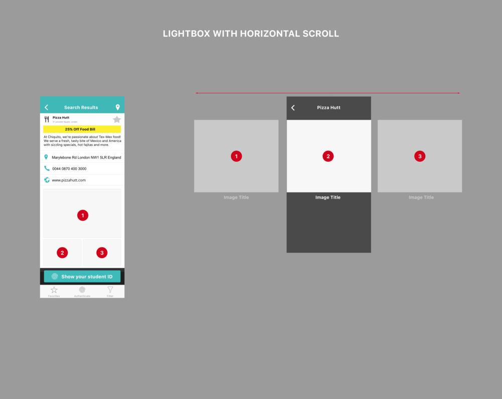 Multi-images display - Horizontal scroll