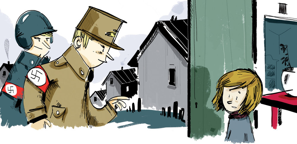 illustration from The Whispering Town