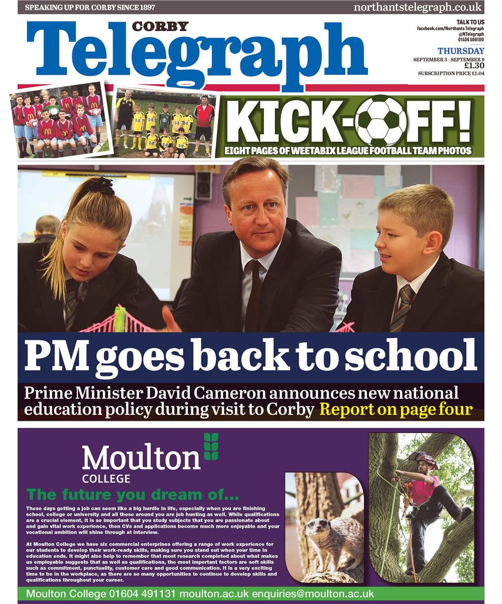 Corby Telegraph p1 September 3.jpg