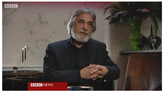 Nabeel Yasin being interviewed about The Poet of Baghdad on the BBC