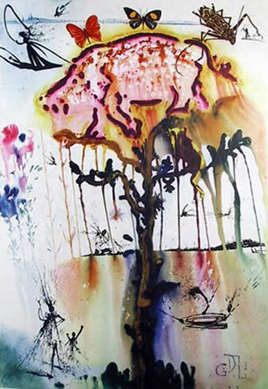 Salvador Dali A PIG AND A PEPPER TREE