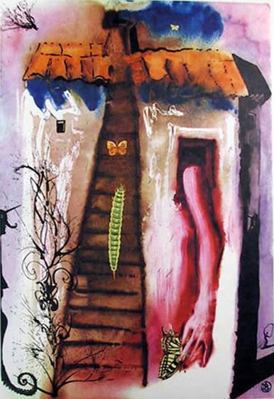 Salvador Dali THE RABBIT SENDS IN A LITTLE BILL