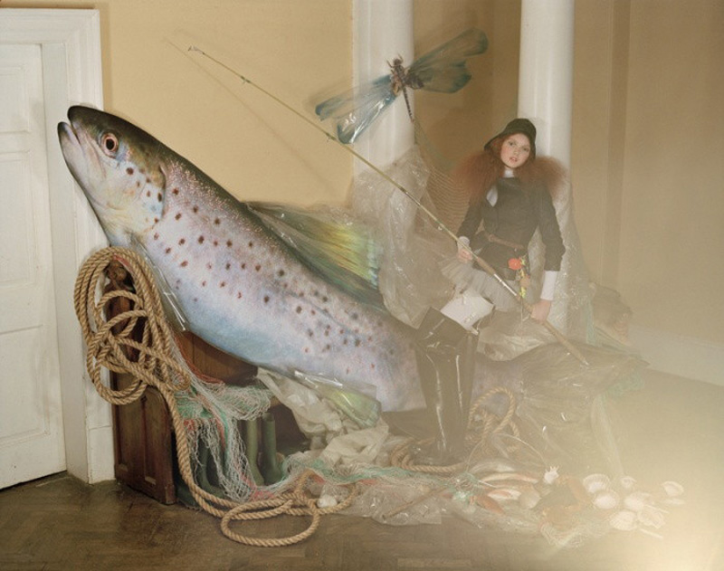 lily cole tim walker giant fish
