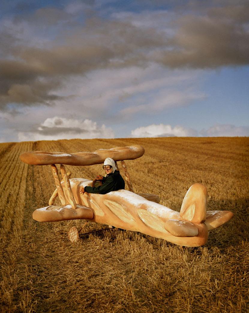 rollo hesketh harvey and baguette biplane 2009 tim walker
