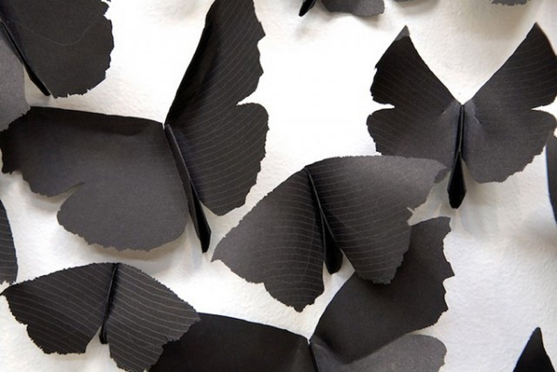 Carlos Amorales - Black Paper Moths Cloud