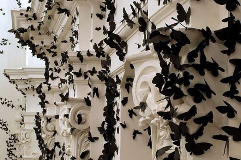Carlos Amorales - Black paper moth cloud
